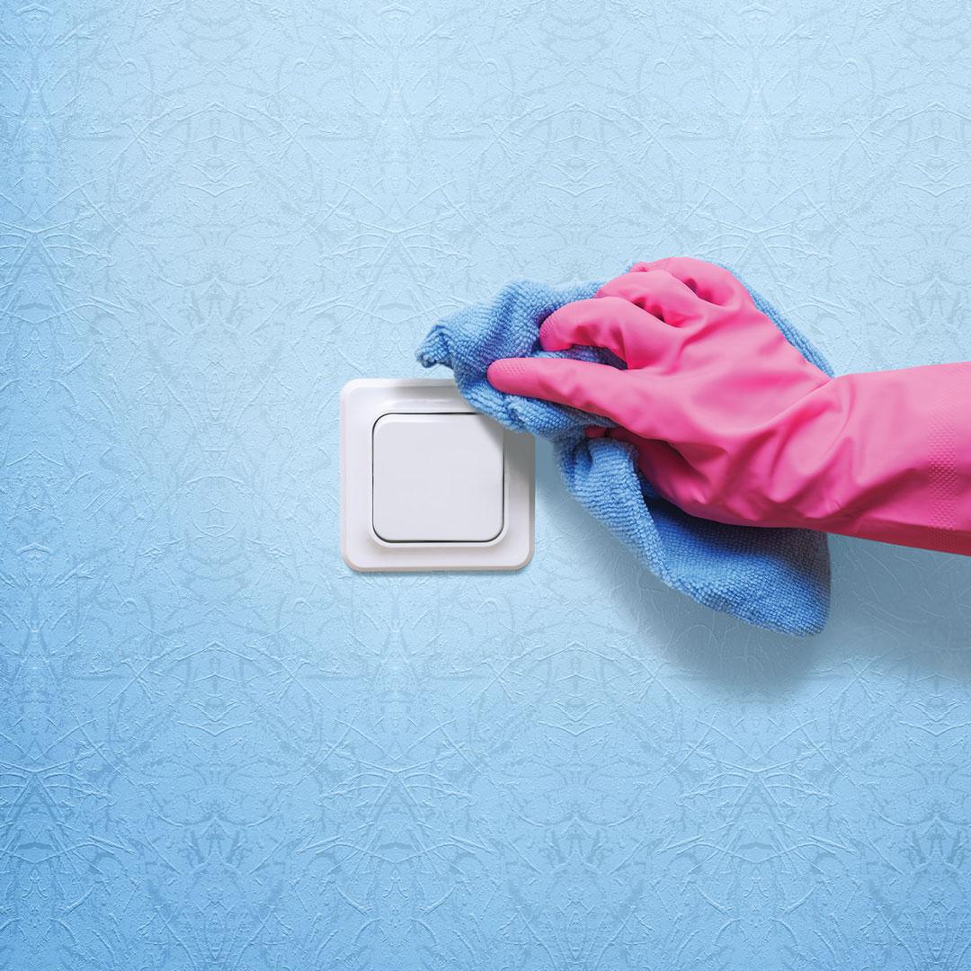 Dezinfekcija kvake i sklopke za svijetlo