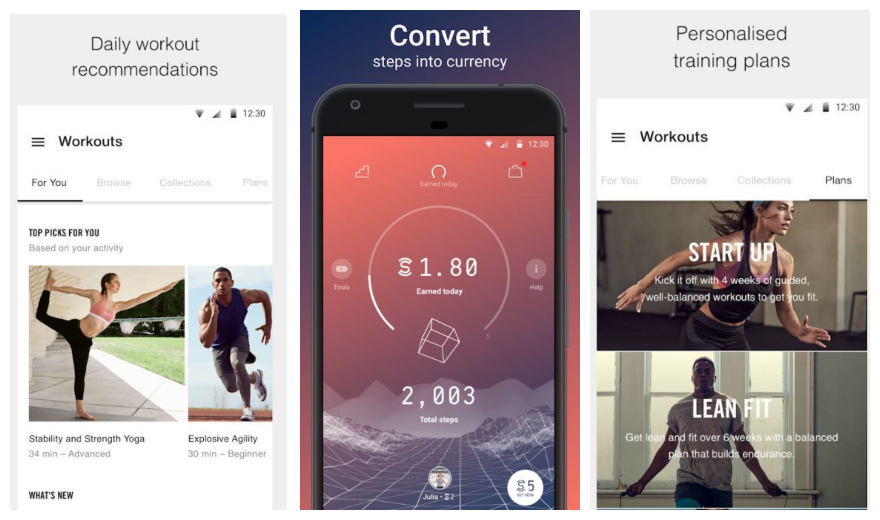 Aplikacija za fitness fitness