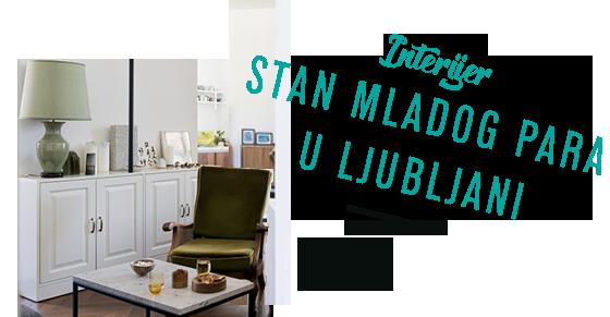 INTERIJER Stan mladog para u Ljubljani