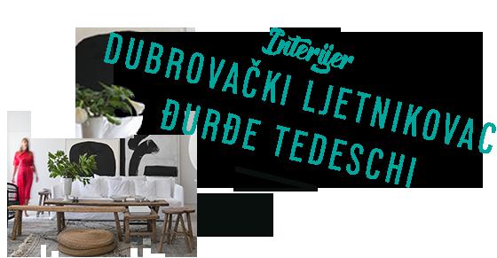 INTERIJER Dubrovački ljetnikovac Đurđe Tedeschi