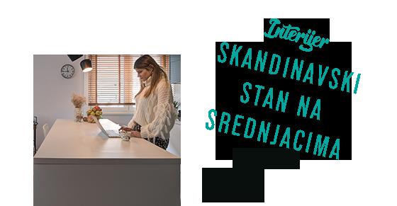 INTERIJER Skandinavski stan na Srednjacima