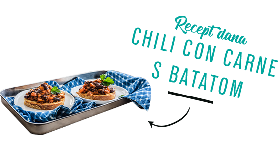 Chili con carne s batatom
